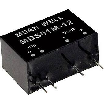 Mean Well MDS01M-12 DC/DC converter (module) 84 mA 1 W No. of outputs: 1 x