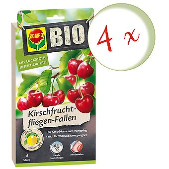 Sparset: 4 x COMPO BIO Cherry Fruit Fly Traps, 3 pièces