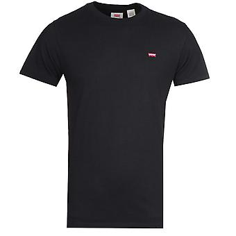 リーバイ&アポスオリジナルブラックコットンTシャツ