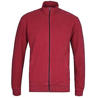 Edwin Trey Ruby Wine Red Funnel Neck Jacket