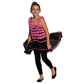 Ballerina black pink kids costume for girl dancer