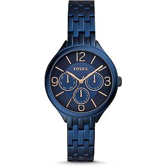 Fossil BQ3225 Suitor Three-Hand Blue Stainless Steel Ladies Watch