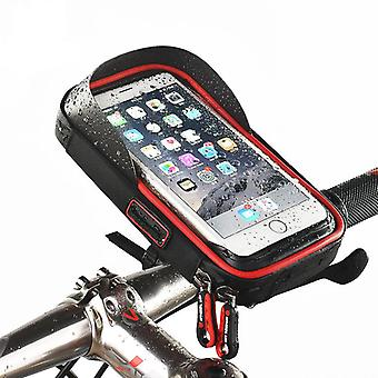 Rainproof bike handlebar touchscreen phone bag case