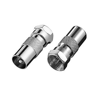 Antenne connector Male-F + Female-F