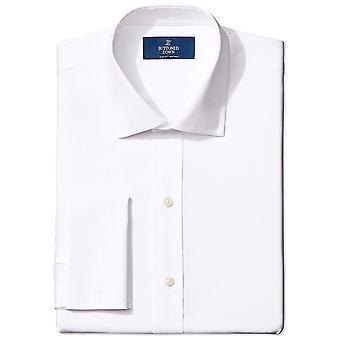 knappet ned menn's slim fit fransk cuff spread-krage ikke-jern kjole skjorte, ...