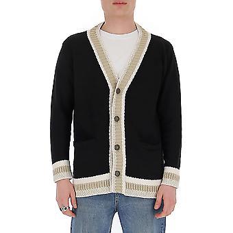 Ballantyne Quk0917c02595653 Men's Black Cotton Cardigan