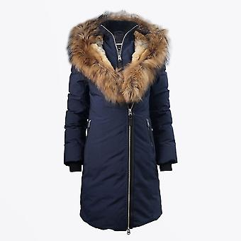 Mackage  - Trish Winter Down Coat With Fur Collar – Navy