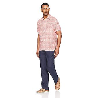 28 Palms Men's Relaxed-Fit Linen Pant with Drawstring, Blue Night, Large/30