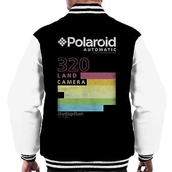 Polaroid Automaattinen 320 Värikkäät raidat Miehet&s Varsity Jacket