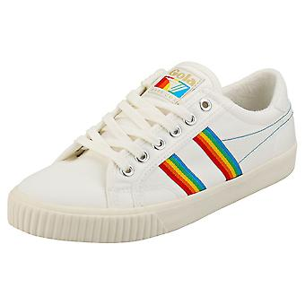 Gola Tennis Mark Cox Rainbow Womens Mode Utbildare i Off White Multicolour