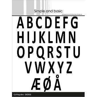 Enkel och grundläggande alfabetet versal Dies