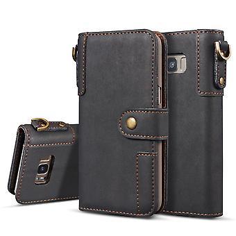 Samsung Galaxy S8 Portafoglio Custodia/sacchetto in pelle-Black