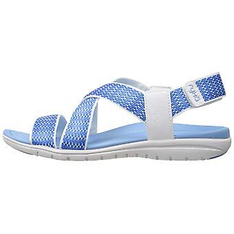 Ryka Womens Belmar Fabric Open Toe Walking Ankle Strap Sandals