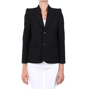 Balenciaga 623044tit171000 Women's Black Wool Blazer