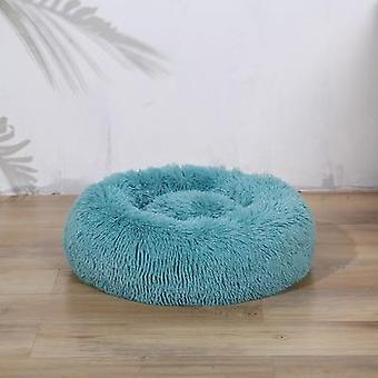 Autumn And Winter Round Long Haired Pet Mat Suitable For Cats And Dogs Sleeping Feel Warm And Comfortable During In Winter