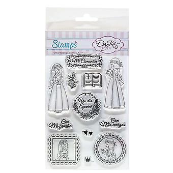 DayKa Trade Mi Comunión Niña Clear Stamps
