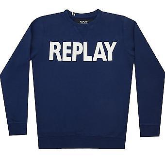 Replay Sweatshirt/Hettegensere Stor Logo Crew Sweatshirt