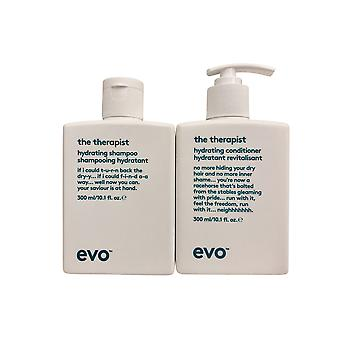 evo De Therapeut Hydraterende Shampoo & Conditioner Set 10.1 OZ Elk