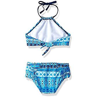 Kanu Surf Big Girls' Mahina Beach Sport Halter Bikini 2-Piece Swimsuit, Blue,...