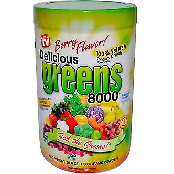 Greens World, Delicious Greens 8000, Berry Flavor, Powder, 10.6 oz (300 g)