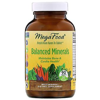 MegaFood, Balanced Minerals, 90 Tablets