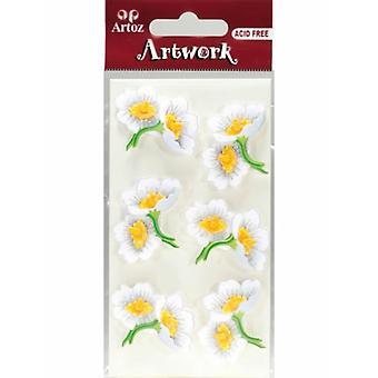 Vit blommig buketter Craft utsmyckning av Artoz