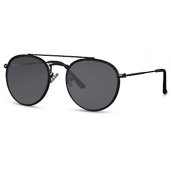 Gafas de sol Unisex piloto/panto cat. 3 negro/negro mate