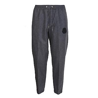 Moncler 2a7310054233940 Men's Grey Wool Joggers