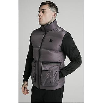 Sik Silk Neo Instinct Grey Bubble Puffer Jacket