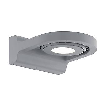 LED Outdoor Wall Light Silver IP44