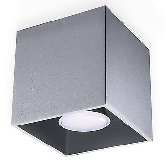 Sollux QUAD - 1 Lichtoberfläche montiert Downlight Grau, GU10