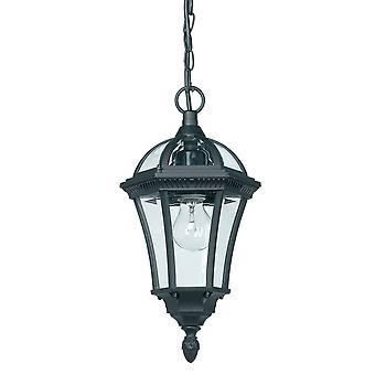 Endon Drayton - 1 Lanterne de plafond extérieure légère Pendentif Lumière Noir IP44, E27