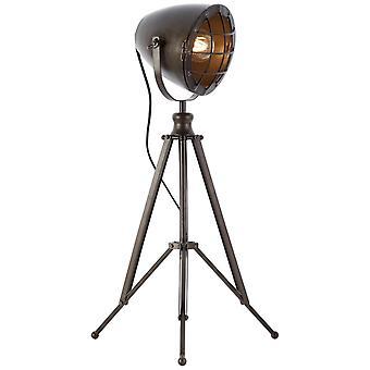 BRILLIANT Lampa Anit Bordslampa Svart stål | 1x A60, E27, 40W, lämplig för normala lampor (medföljer ej) | Skala