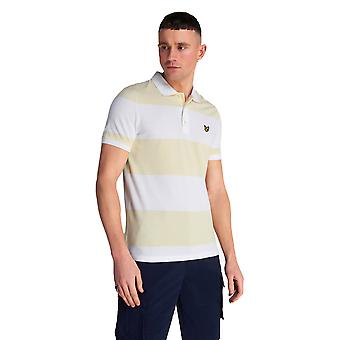 Lyle & Scott Wide Stripe Polo Shirt - Buttercream