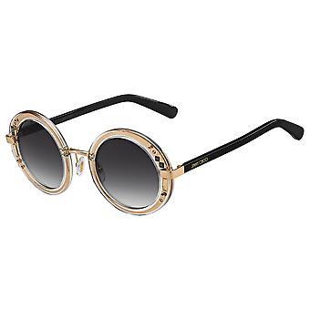 Jimmy Choo Gem/S 16R/EO Crystal-Palladium Brown/Brown Gradient Sunglasses