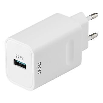 DeltaCO USB-A carica carica rapida 24W, bianco
