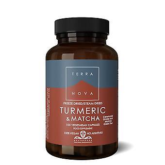 Terranova Turmeric & Matcha Green Tea Vegicaps 100 (T3784)