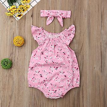 الأطفال الملابس الصيفية، طفل حديث الولادة بلا أكمام الأزهار معد 2pcs