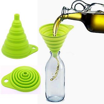 Silicone Foldable Collapsible Style Funnel Hopper - Kitchen Cooking Tools Accessories