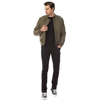 Trussardi Jeans Green Military Bomber Zip Up Jacket