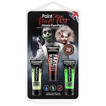 PaintGlow (hp57) Halloween naamiaispuvut - Fright Fest - Blood & Glow Trio