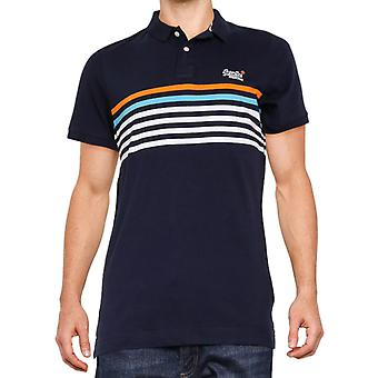 Superdry Weekender Jersey Polo Shirt Navy 22