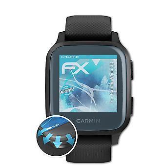 atFoliX 3x Suojakalvo yhteensopiva Garmin Venu SQ Screen Protector clear&flexible