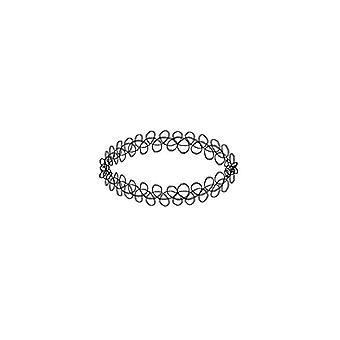 Kaksinkertainen ketjutettu design samettinen kuristin kaulakoru