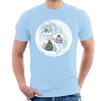 Care Bears Christmas Snow Castle Men-apos;s T-Shirt