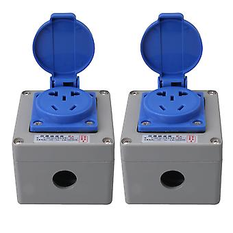 2Pcs 10A Metal Socket Junction Box Outdoor Socket Connection Cover