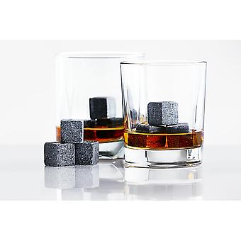 Whiskey Stones And Stainless Steel Drinking Straw Set
