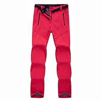 Women Warm Fleece Softshell Ski Pants Waterproof Sports Snowboard Pants, Winter