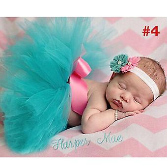 Jupe tutu nouveau-née avec bandeau tiare