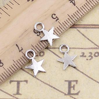 30pcs Charms Star 11x8mm Tibetan Pendants Antique Jewelry Making